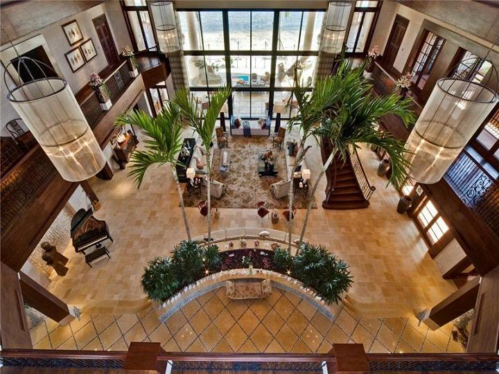 massive foyer cayman mansion The $60 Million Mansion on the Ocean: Castillo Caribe, Cayman Islands