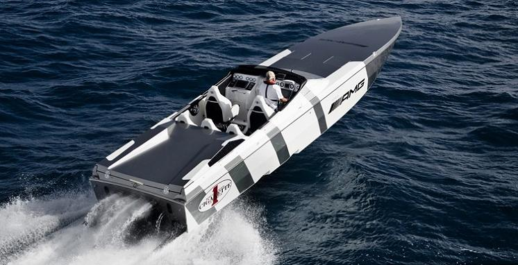 mercedes benz speed boat $1.2 Million 1,350 HP Mercedes Benz SLS AMG Cigarette Boat