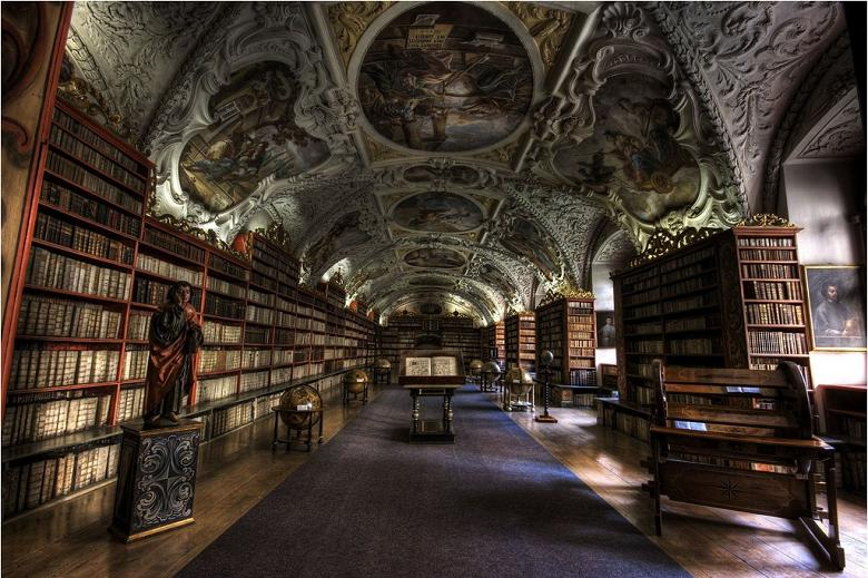 strahov theological hall prague 15 Incredible Libraries Around the World