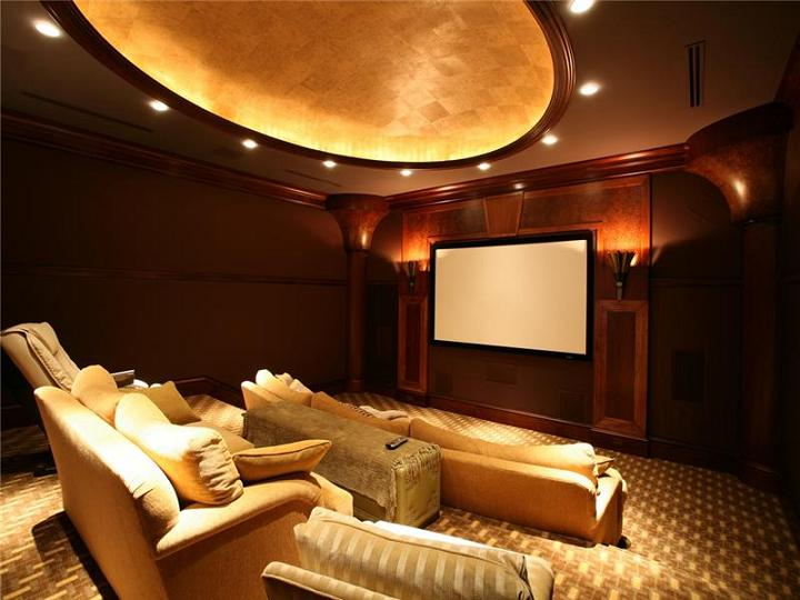tv theatre viewing room in house The $60 Million Mansion on the Ocean: Castillo Caribe, Cayman Islands