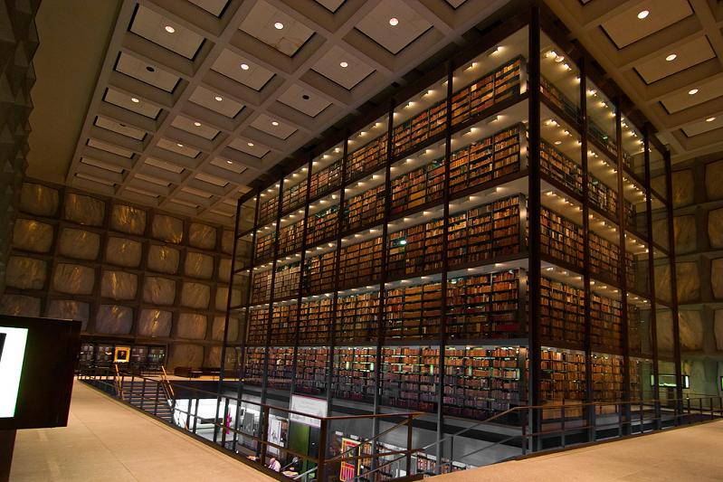 yale university beinecke rare book and manuscript library 15 Incredible Libraries Around the World
