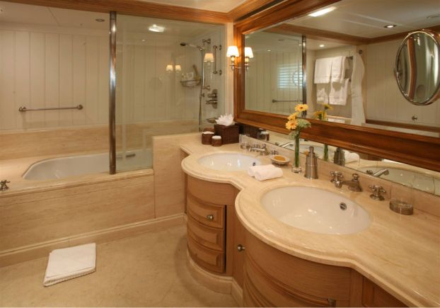 bathroom on tatoosh Inside Paul Allens $160 Million Yacht Tatoosh
