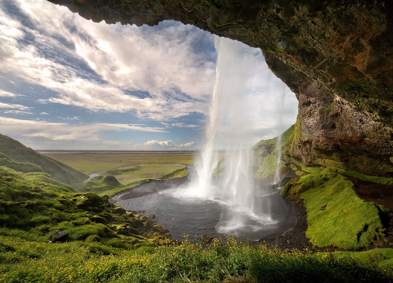 behind a waterfall the other side seljalandsfoss Picture of the Day   September 7, 2010