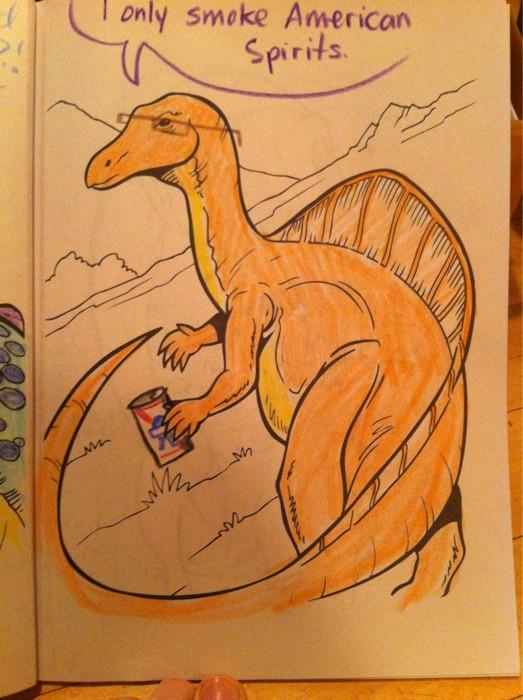 hipster dinosaur american spirits What if Cats, Dinosaurs and Super Heroes Were Hipsters?