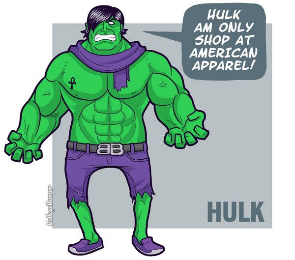 hipster hulk What if Cats, Dinosaurs and Super Heroes Were Hipsters?