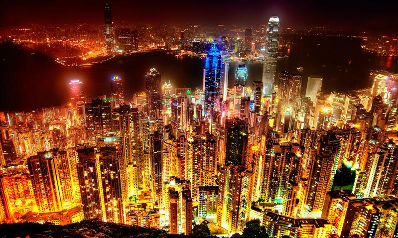 hong kong skyline 15 Spectacular Skylines Around the World