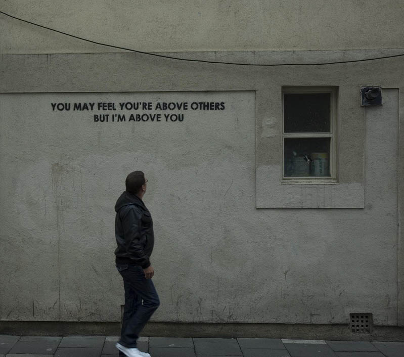 im above you street stencil art mobstr Brilliant Street Art by Mobstr [20 pics]