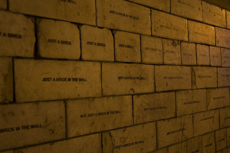 just another brick stencil mobstr Brilliant Street Art by Mobstr [20 pics]