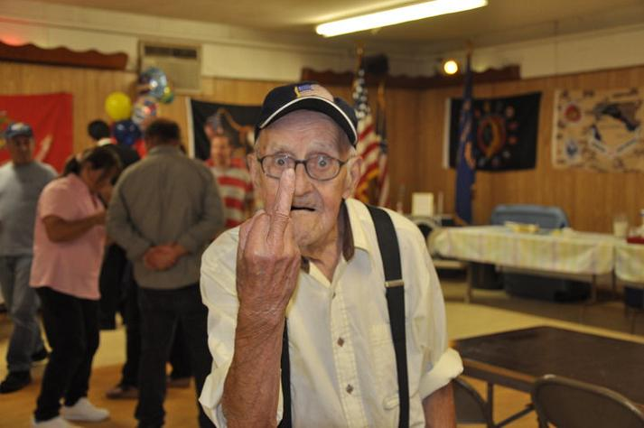 old man giving the middle finger The Friday Shirk Report   September 10, 2010 | Volume 74