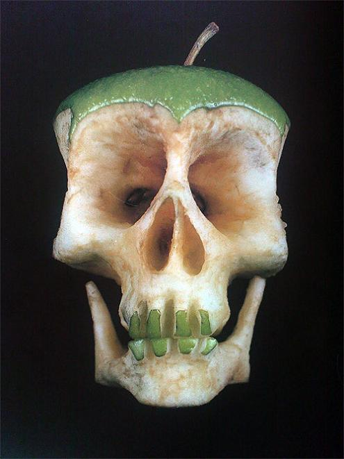 rotten bad apple skill sculpture dimitri tsykalov Picture of the Day   September 6, 2010