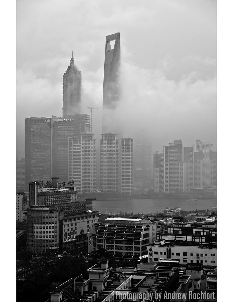 shanghai black and white Picture of the Day   Cloud City
