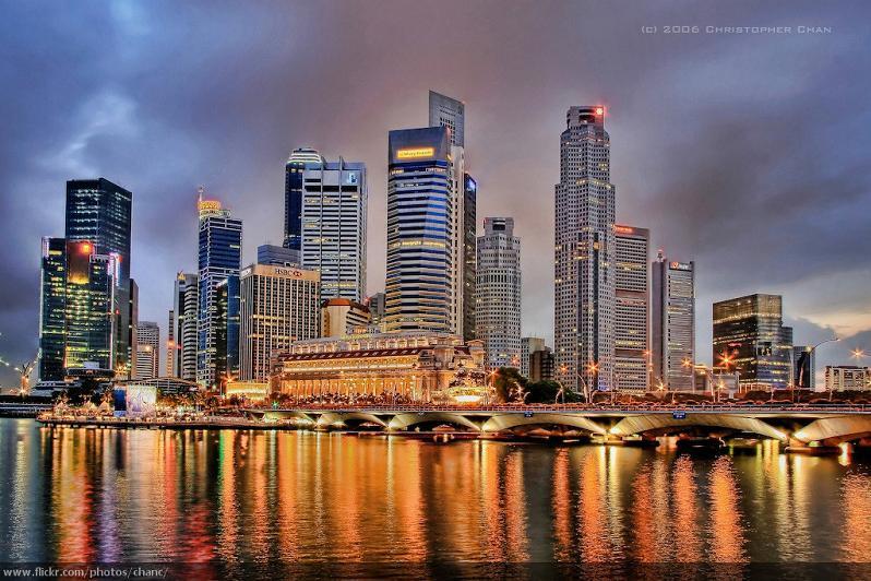 singapore skyline at night 15 Spectacular Skylines Around the World