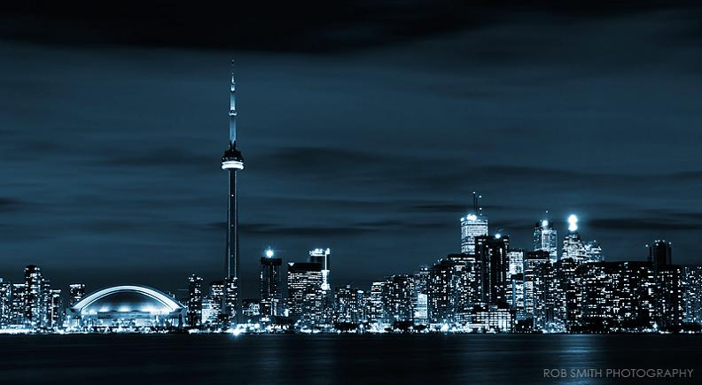 toronto skyline at night 25 Stunning Skylines Around the World