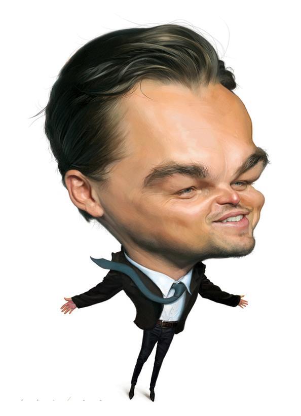 1 leonardo di caprio caricature jason seiler Funny Faces: Famous Actors Acting Out [20 Pics]