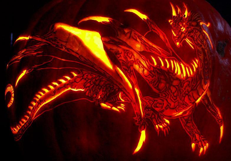 black dragon pumpkin 25 Mind Blowing Halloween Pumpkins