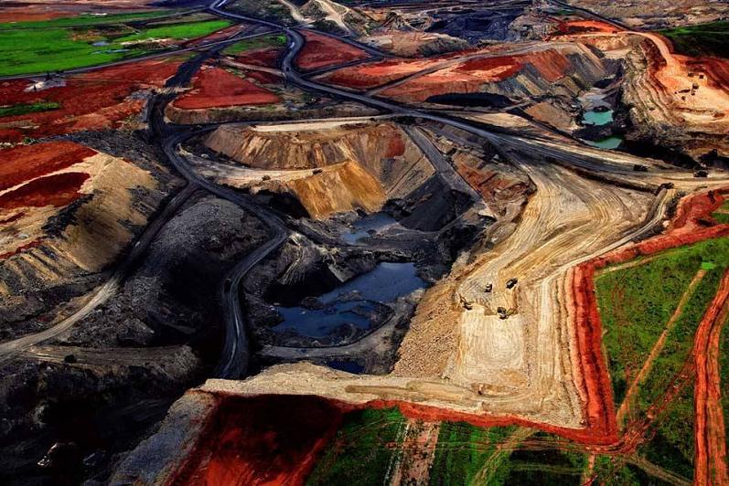 mina de carbón-aérea-sudafrica-Yann-Arthus-Bertrand