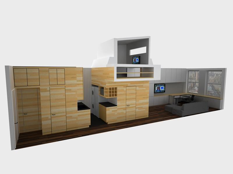 How to Live Large in a 500 sq ft (46 sq m)Apartment