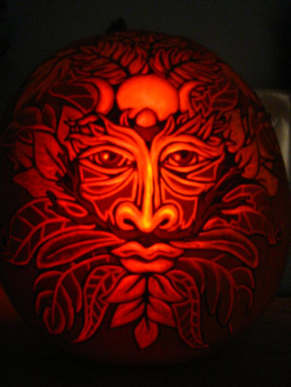 green man pumpkin 25 Mind Blowing Halloween Pumpkins