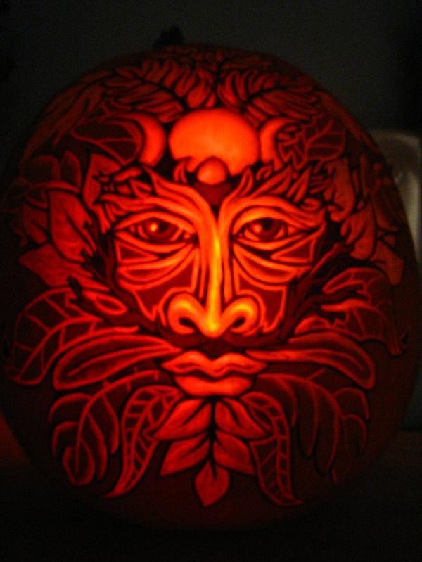 green man pumpkin 25 Mind Blowing Halloween Pumpkins
