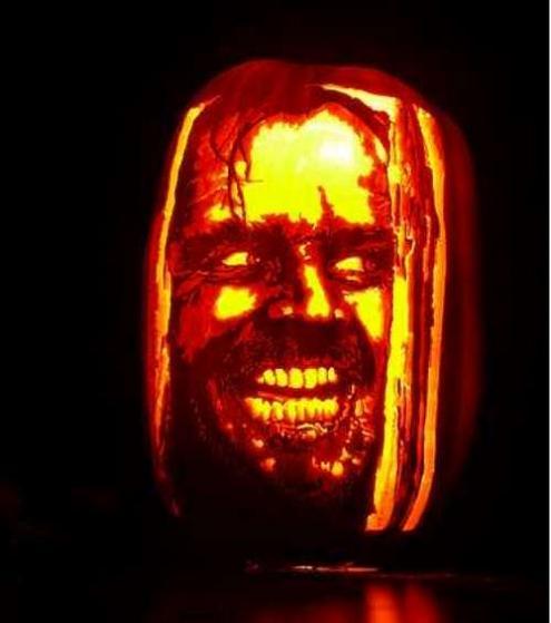 heres johnny shining jack nicholson pumpkin 25 Mind Blowing Halloween Pumpkins