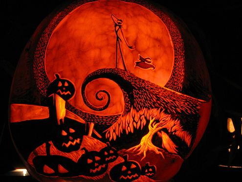 jack skellington pumpkin nightmare before christmas 25 Mind Blowing Halloween Pumpkins