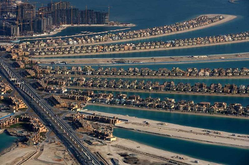 palma Jumeirah, Dubai-Emiratos Árabes Unidos-aérea