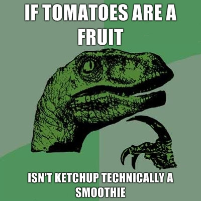 philosoraptor ketchup a smoothie The Friday Shirk Report   October 22, 2010 | Volume 80