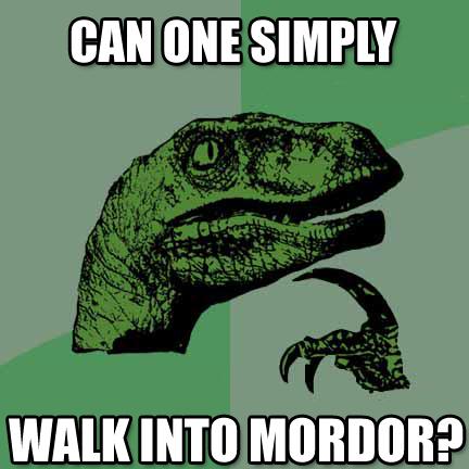 philosoraptor mordor 20 Burning Questions with the Famous Philosoraptor