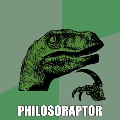 philosoraptor 20 Burning Questions with the Famous Philosoraptor