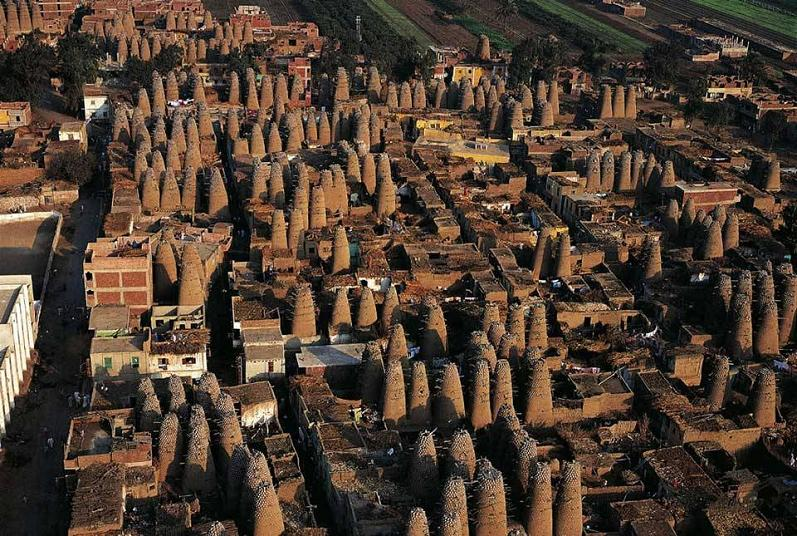 pigeon houses mit gahmr delta egypt The Incredible Aerial Photography of Yann Arthus Bertrand [25 pics]
