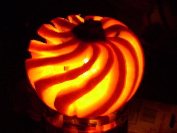 pumpkin swirl 25 Mind Blowing Halloween Pumpkins