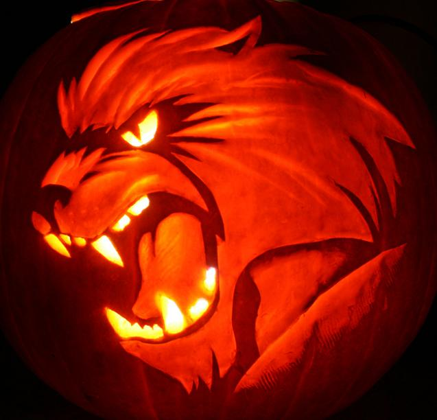 werewolf pumpkin 25 Mind Blowing Halloween Pumpkins