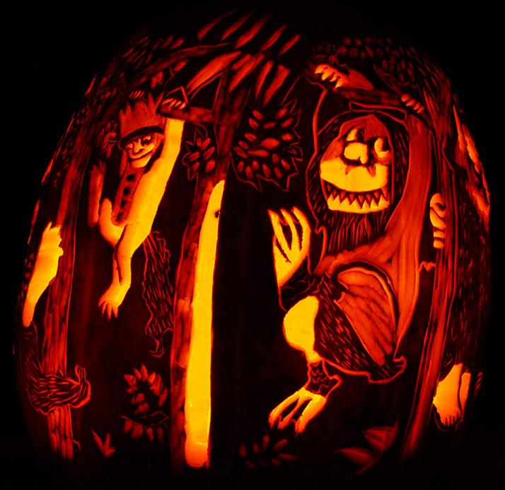 where the wild things are pumpkin 2 25 Mind Blowing Halloween Pumpkins