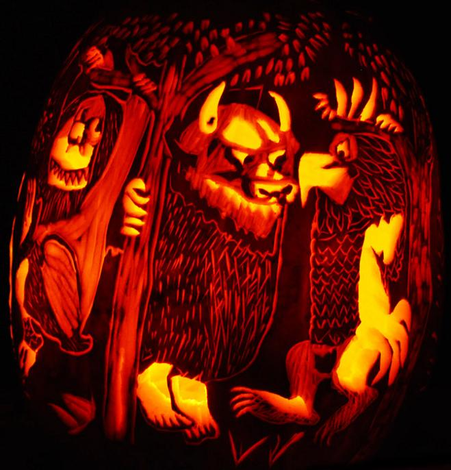 where the wild things are pumpkin 3 25 Mind Blowing Halloween Pumpkins