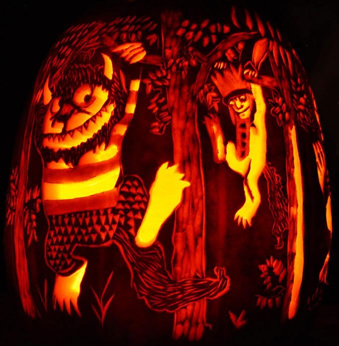 where the wild things are pumpkin 25 Mind Blowing Halloween Pumpkins