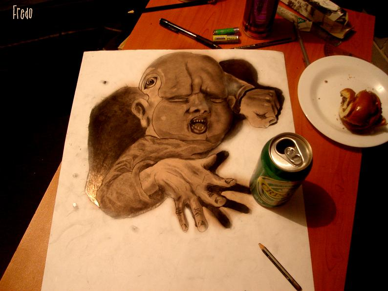 artist fredo 3d drawings illustrations art 13 Unbelievable 3D Drawings by 17 year old Fredo [25 pics]