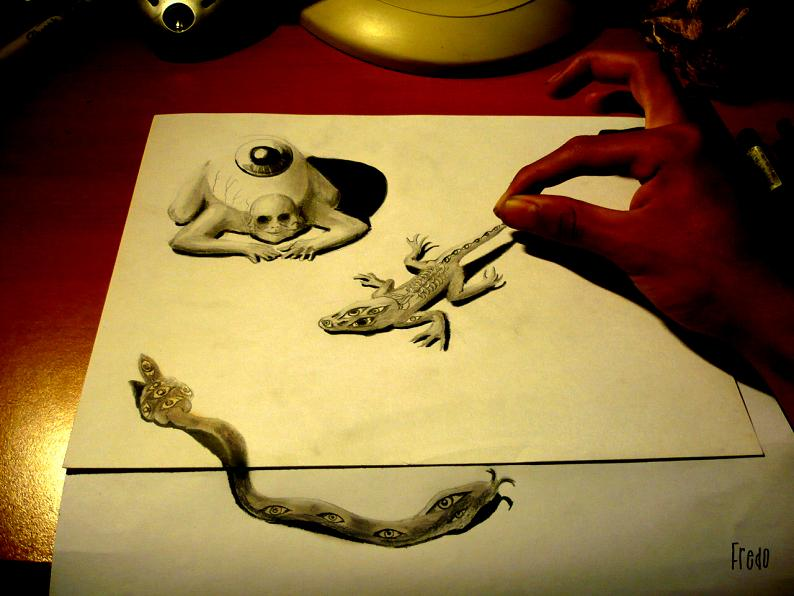 artist fredo 3d drawings illustrations art 17 Unbelievable 3D Drawings by 17 year old Fredo [25 pics]