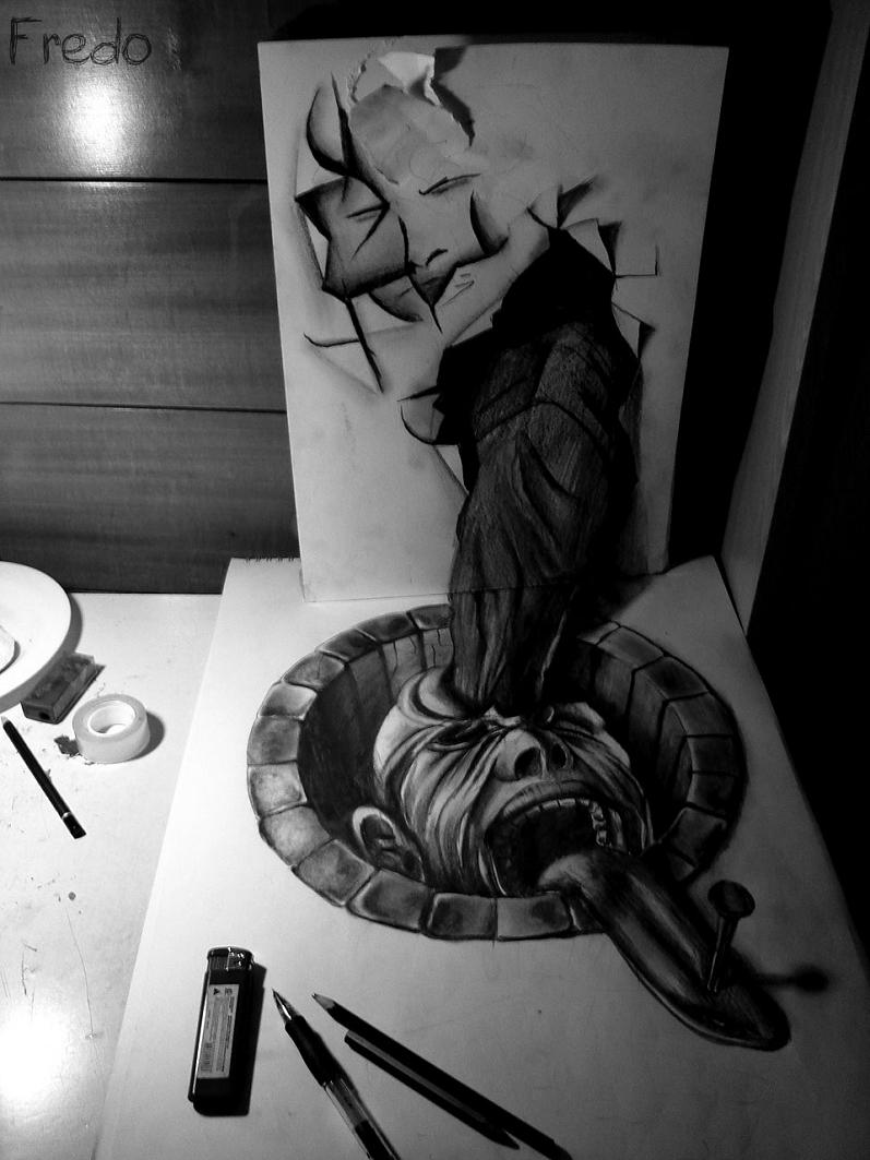 artist fredo 3d drawings illustrations art 3 Unbelievable 3D Drawings by 17 year old Fredo [25 pics]