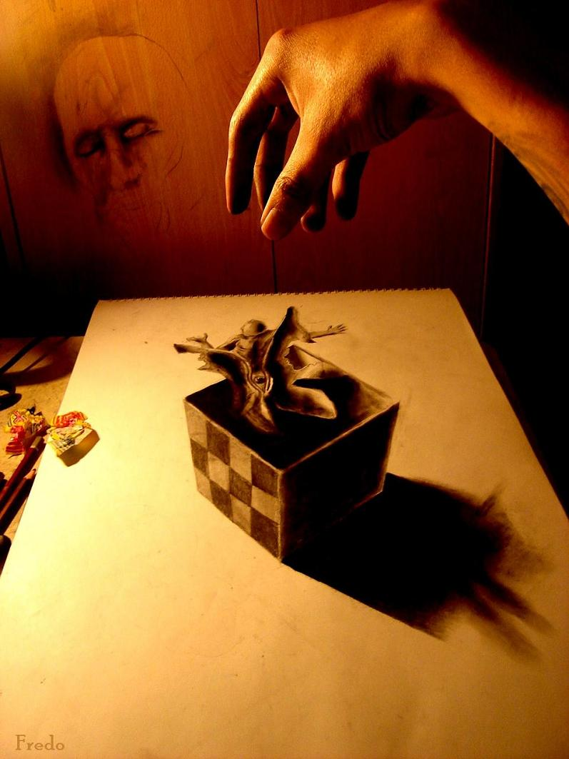 artist fredo 3d drawings illustrations art 30 Unbelievable 3D Drawings by 17 year old Fredo [25 pics]