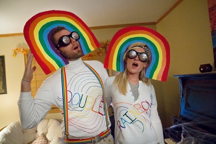 double rainbow funny halloween costume 25 Hilarious Halloween Costumes