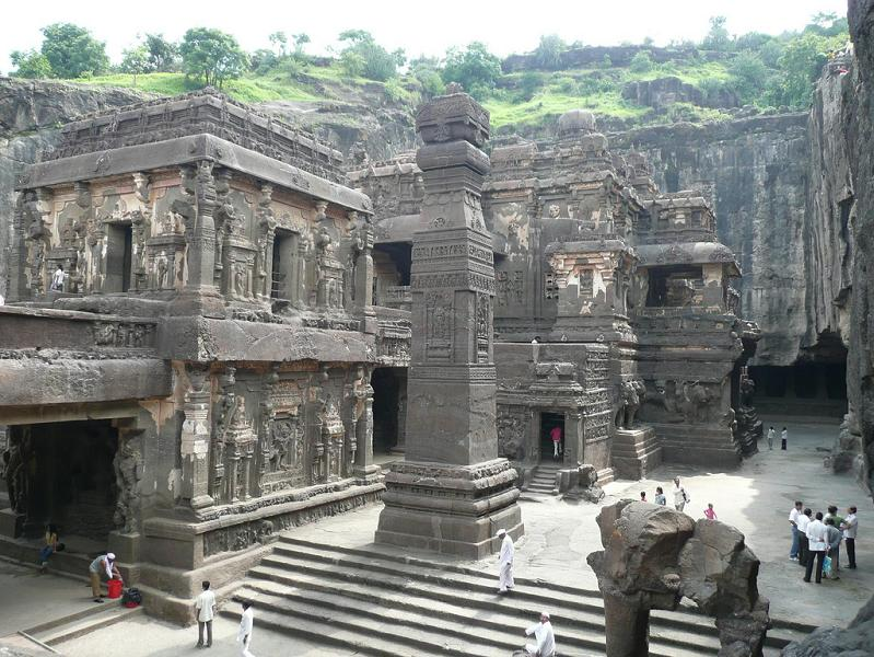 ellora caves india mountain temples 20 The Famous Chand Baori Stepwell in India