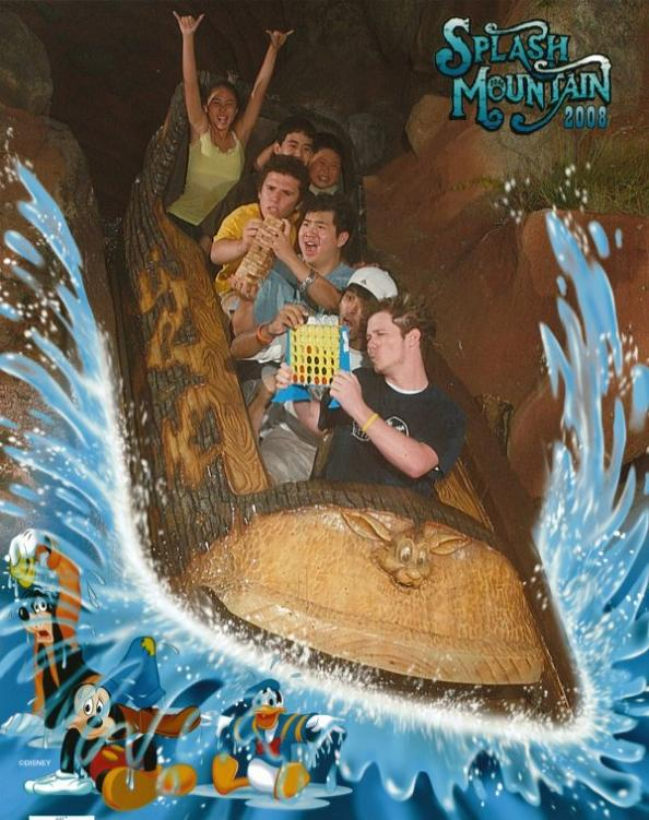 funny splash mountain extreme connect four 21 Hilarious Pics from Disney Worlds Splash Mountain
