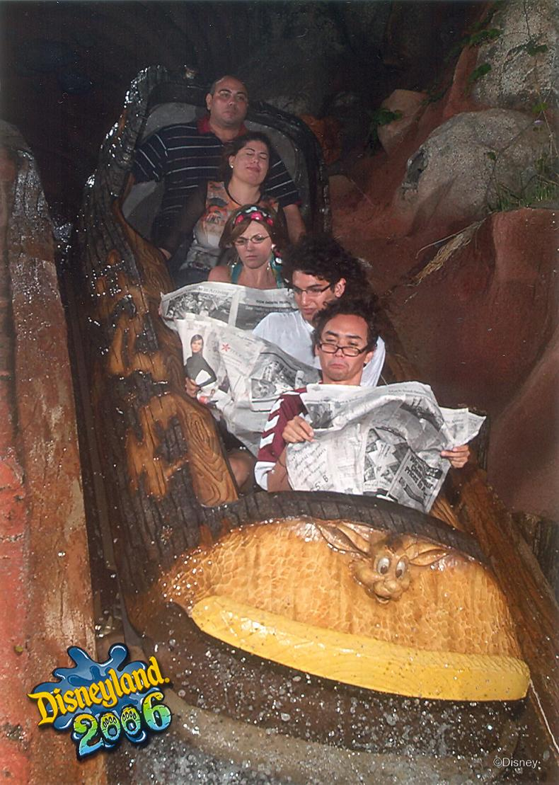 funny splash mountain reading newspaper 21 Hilarious Pics from Disney Worlds Splash Mountain