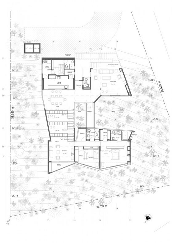 Steep roof house plans