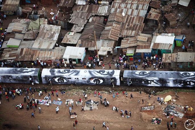 jr street art big photographs 2011 ted prize winner 40 2011 TED Prize Winner: Street Artist JR [40 pics]