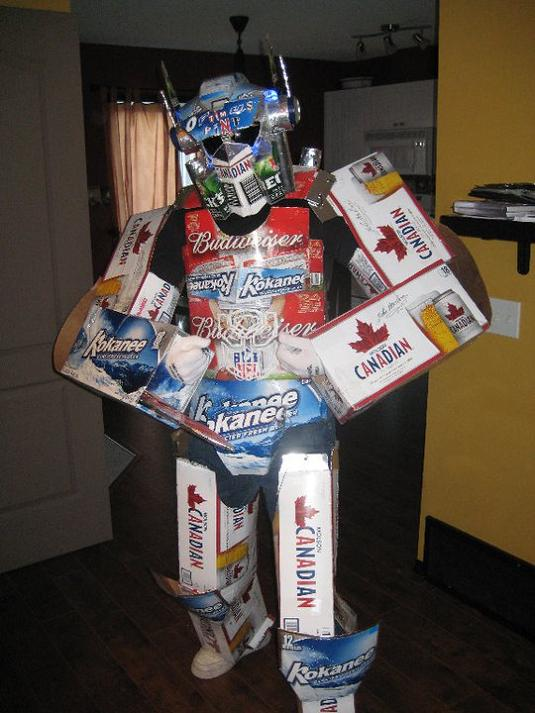 optimus prime beer cases funny halloween costume 25 Hilarious Halloween Costumes