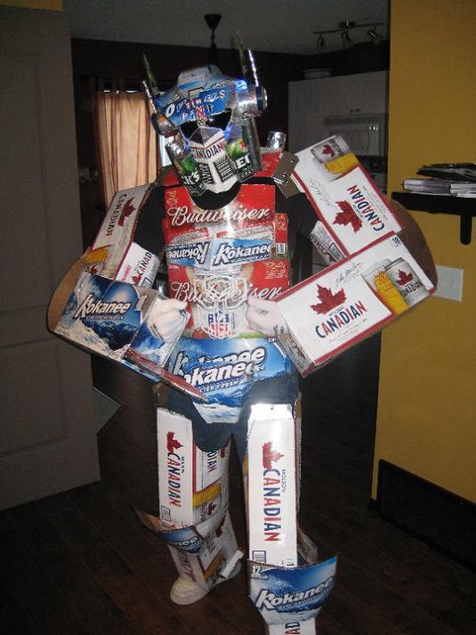 optimus prime beer cases funny halloween costume 25 Hilarious Halloween Costumes