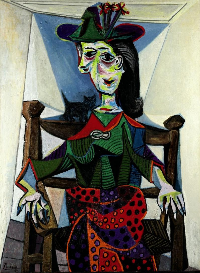 pablo picasso dora maar au chat 10 Most Expensive Paintings Sold in the 21st Century