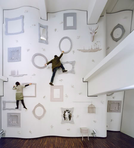 picture frame climbing wall Picture of the Day: Worlds Coolest Climbing Wall | Nov 16, 2010