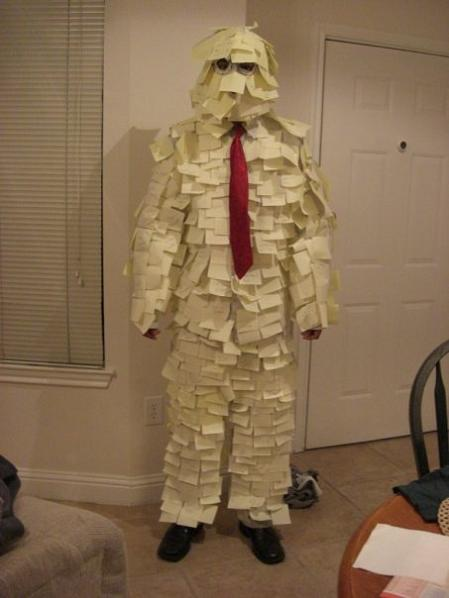 post it notes funny halloween costume 25 Hilarious Halloween Costumes